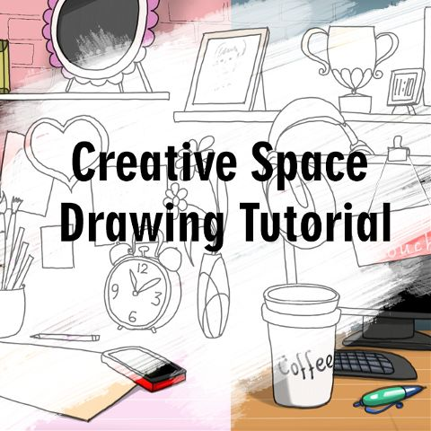 how to draw a creative space