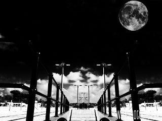 monochrome photography blackandwhite moon
