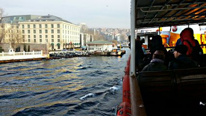 istanbul photography winter travel boat