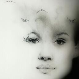 black & white emotions love art