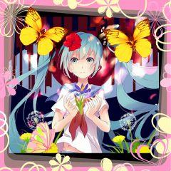 anime full cute flower nature