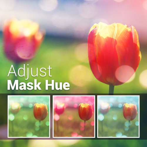 picsart hue option in masks