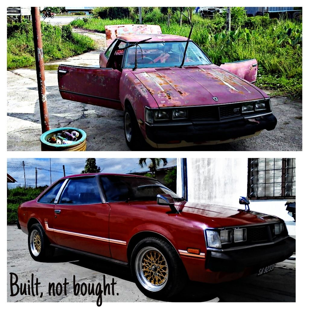 My Toyota Celica TA45 GT restoration before and after