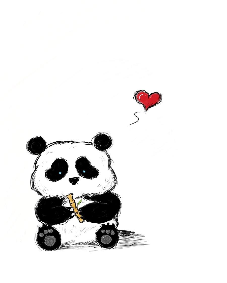Красивых, прикольные картинки панды мультяшные