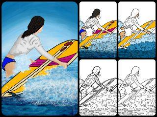 drawstepbystep stepbystepdrawing surfing waves sea