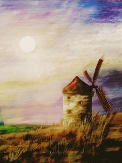 windmill art artwork