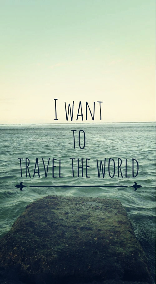 I am a wanderluster.. I really want to travel the world.. experiencing the extra-ordinary**