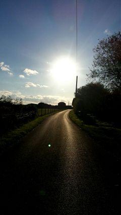 photography travel road sun evening