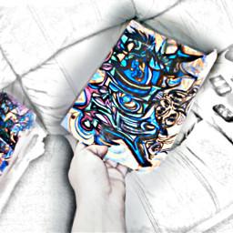 bokeh collage pencilart